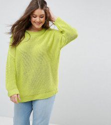 SL1062 Ex Chainstore Oversized Chunky Jumper - Lime x13