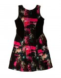 SC058 Ex UK Chainstore Floral Print Velour Dress x10