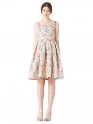 SL652 Ex UK Chainstore Aliz Floral Summer Dress - Coral x14