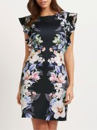 SL965 Ex UK Chainstore Ruffle Sleeve Floral Printed Dress x12