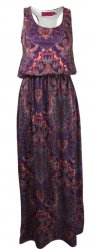 SL254 Ex UK Chainstore Paisley Bagged Over Maxi - Purple x10