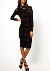 SL660 Ex UK Chainstore Sheer Check Polo Dress x7