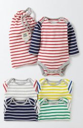 SC100 Ex Chainstore Baby Boys 4 Pack Thin Stripes Bodies x8