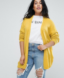 SL1082 Ex Chainstore Knit Fluffy Yarn Yellow Cardigan Fine x15