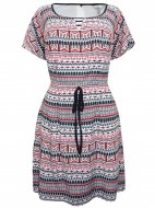 SL905 Ex UK Chainstore Aztec Print Paloma Dress x12