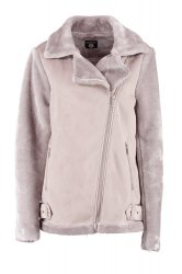 SL1113 Boohoo Alex Pink Aviator Faux Fur Sleeve Jacket (x12)