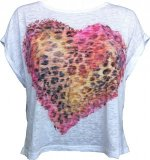 SL030 Ex UK Chainstore Leopard Heart T-Shirt x12
