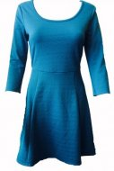 SL119 Ex UK Chainstore Teal Textured Skater Dress x16