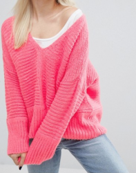 SL844 Ex UK Chainstore Petite Chunky Jumper In Fluffy Yarn x14