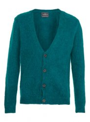 SM019 Ex UK Chainstore Mohair Infused Cardigan - Green x13