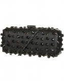 SL528 Ex UK Chainstore Black Stud and Gem Box Bag x10