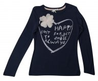 SC053 Ex UK Chainstore Love Heart & Flower Top Top - Navy x12