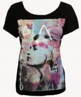 SL036 Ex UK Chainstore Face Print Tee x10