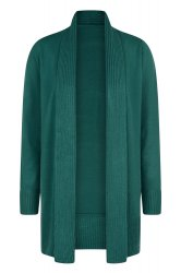 SL830 Ex UK Chainstore Open Front Cardi - Bottle Green x12