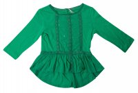 SC054 Ex UK Chainstore Sequin Smock Blouse - Green x12