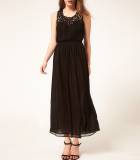 SL495 Ex UK Chainstore Midi Dress With Cutwork - Black x5