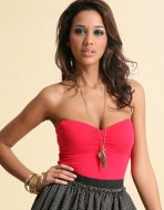 SL073 Ex UK Chainstore Red Bandeau Bodysuit x12