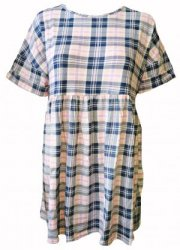 SL107 Ex UK Chainstore Pastel Tartan Short Dress x12