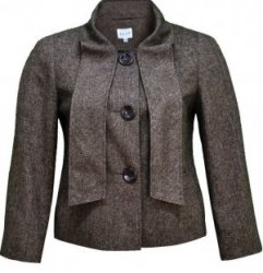 SL181 Ex UK Chainstore Brown Lurex Tweed Jacket x7