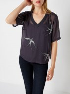 SL1134 Ex Chainstore Swallow Embellished Top x12