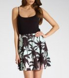 SL934 Ex UK Chainstore Palm Print Skater Skirt x10