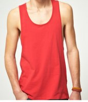 SM006 Ex UK Chainstore Red Ribbed Textured Vest x11