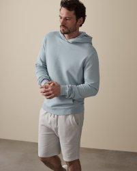 SM053 Ex Chainstore Garment Dyed Hoodie - Soft Blue x12