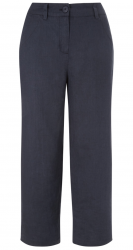 SL805 Ex UK Chainstore Blue Cropped Linen Trousers x10