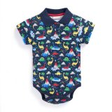 SC137 Ex Chainstore Dino Print Baby Boys Collared Bodysuit x50