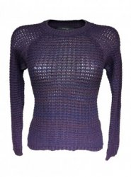 SL216 Ex UK Chainstore Knitted Jumper - Purple x10
