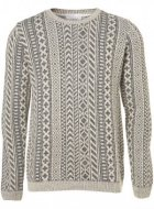 SM010 Ex UK Chainstore Beige Vertical Pattern Jumper x6