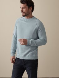 SM051 Ex Chainstore Garment Dyed Sweatshirt - Soft Blue x11