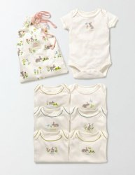 SC091 Ex Chainstore Baby Girls Days 6 Pack Bodies/Bodysuits x8