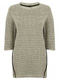 SL836 Ex UK Chainstore Beige Dash Stitch Jumper x12
