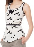 SL087 Ex UK Chainstore Cream & Black Bird Top x12