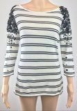SL543 Ex UK Chainstore Striped Sequin Embellished Jumper x12