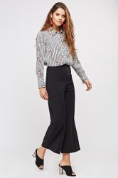 SL1194 Ex Chainstore Black High Waisted Wide Leg Culottes x20