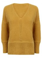 SL865 Ex UK Chainstore Oversized V Neck Fluffy Jumper Honey x10