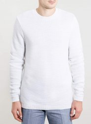 SM018 Ex UK Chainstore Horizontal Rib Jumper - White x8