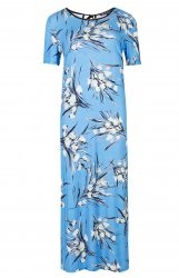 SL692 Ex UK Chainstore Blue Floral Column Dress x10