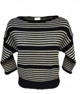 SL210 Ex UK Chainstore Black/White Striped Jumper x12