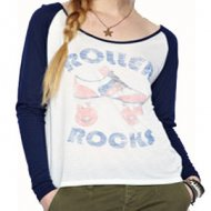 SL069 Ex UK Chainstore Roller Rocks Raglan Top x13