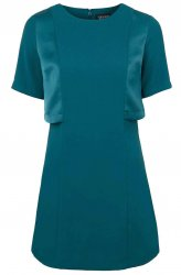 SL911 Ex UK Chainstore A-Line Overlay Dress - Blue x9