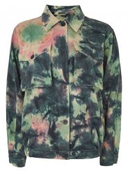 SL957 Ex UK Chainstore Tie Dye Shacket x12