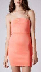 SL222 Ex UK Chainstore Orange Bandeau Bodycon Dress x12