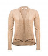 SL598 Ex UK Chainstore Taupe Pointelle Fallaway Cardigan x12