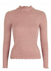 SL916 Ex UK Chainstore Long Sleeve Frill Neck Top x10