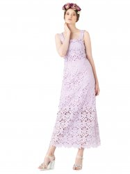 SL696 Ex UK Chainstore Lilac Lace Midi Valentina Dress x10