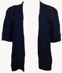 SL039 Ex UK Chainstore Navy Knitted Shrug x6