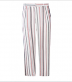 SL917 Ex UK Chainstore Striped Cropped Length Trousers x10